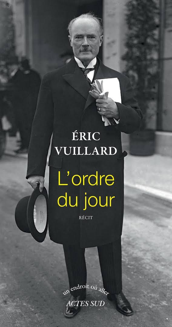 """""""L'ordre du jour""""   Prix Goncourt."""